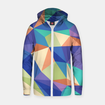 Thumbnail image of Colorful geometric kaleidoscope pattern Zip up hoodie, Live Heroes