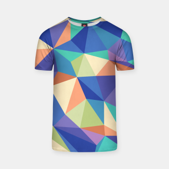 Thumbnail image of Colorful geometric kaleidoscope pattern T-shirt, Live Heroes