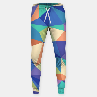 Thumbnail image of Colorful geometric kaleidoscope pattern Sweatpants, Live Heroes