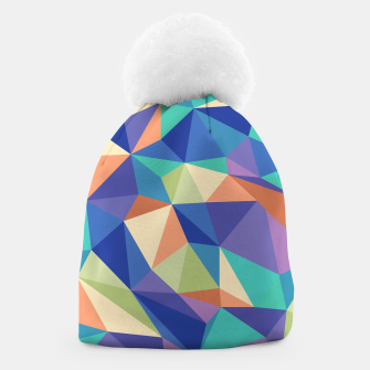 Thumbnail image of Colorful geometric kaleidoscope pattern Beanie, Live Heroes