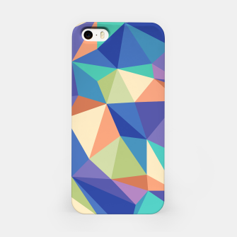 Thumbnail image of Colorful geometric kaleidoscope pattern iPhone Case, Live Heroes