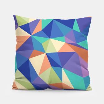 Thumbnail image of Colorful geometric kaleidoscope pattern Pillow, Live Heroes