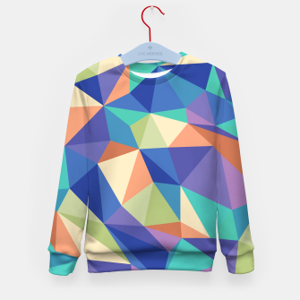 Thumbnail image of Colorful geometric kaleidoscope pattern Kid's sweater, Live Heroes
