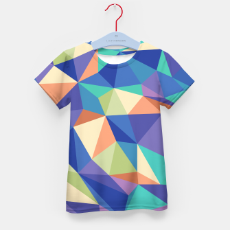 Thumbnail image of Colorful geometric kaleidoscope pattern Kid's t-shirt, Live Heroes