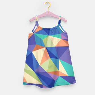 Thumbnail image of Colorful geometric kaleidoscope pattern Girl's dress, Live Heroes