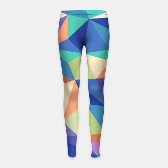 Thumbnail image of Colorful geometric kaleidoscope pattern Girl's leggings, Live Heroes