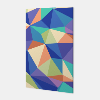 Thumbnail image of Colorful geometric kaleidoscope pattern Canvas, Live Heroes