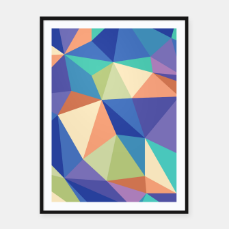 Thumbnail image of Colorful geometric kaleidoscope pattern Framed poster, Live Heroes