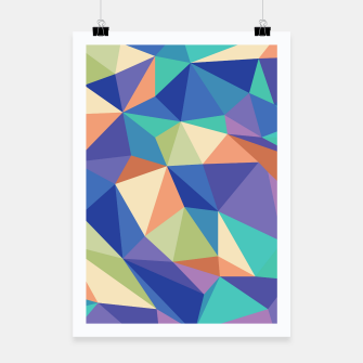 Thumbnail image of Colorful geometric kaleidoscope pattern Poster, Live Heroes