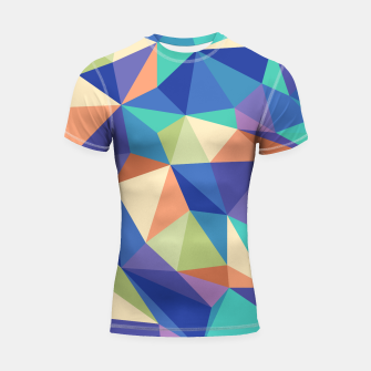 Thumbnail image of Colorful geometric kaleidoscope pattern Shortsleeve rashguard, Live Heroes