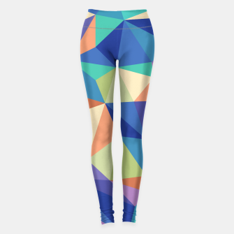 Thumbnail image of Colorful geometric kaleidoscope pattern Leggings, Live Heroes