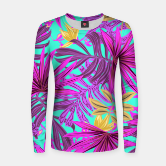 Thumbnail image of Jungle Leaves Women sweater, Live Heroes