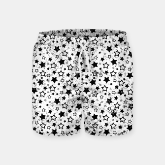 Thumbnail image of Star Pattern Vintage Style Badeshorts, Live Heroes