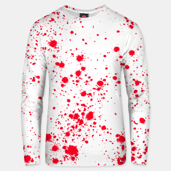 Miniaturka Red and White Splattern Abstract Print Unisex sweater, Live Heroes