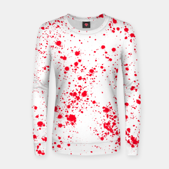Miniaturka Red and White Splattern Abstract Print Women sweater, Live Heroes