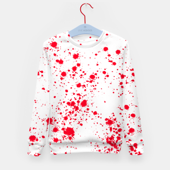 Miniaturka Red and White Splattern Abstract Print Kid's sweater, Live Heroes