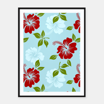 Thumbnail image of Flower pattern Framed poster, Live Heroes