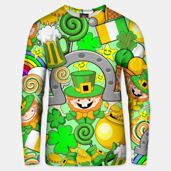 Thumbnail image of St Patrick Doodles  Unisex sweater, Live Heroes