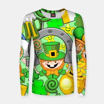 Thumbnail image of St Patrick Doodles  Women sweater, Live Heroes