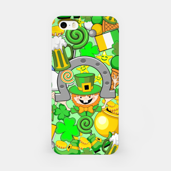 Thumbnail image of St Patrick Doodles  iPhone Case, Live Heroes