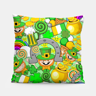 Thumbnail image of St Patrick Doodles  Pillow, Live Heroes