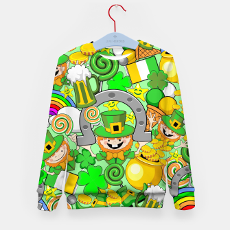 Thumbnail image of St Patrick Doodles  Kid's sweater, Live Heroes