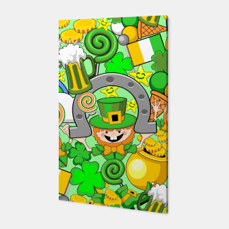 Thumbnail image of St Patrick Doodles  Canvas, Live Heroes