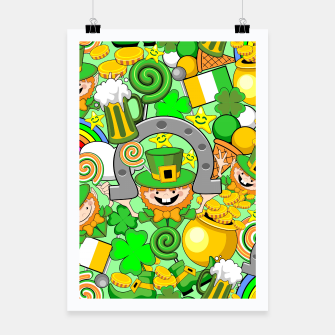 Thumbnail image of St Patrick Doodles  Poster, Live Heroes