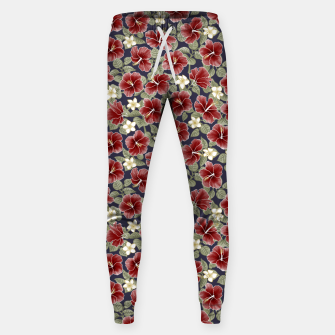 Thumbnail image of Hibiscus and Plumeria - Maroon  Pantalones de chándal , Live Heroes
