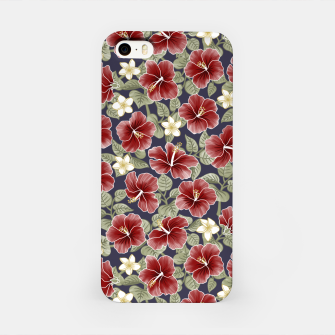 Thumbnail image of Hibiscus and Plumeria - Maroon  Carcasa por Iphone, Live Heroes