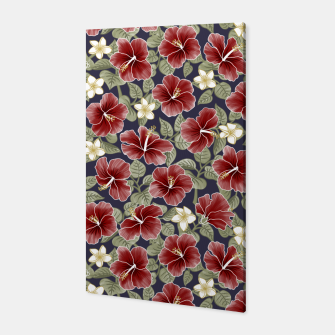 Thumbnail image of Hibiscus and Plumeria - Maroon  Canvas, Live Heroes