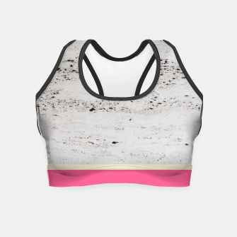 Thumbnail image of Pink Pale Yellow on Concrete #1 #decor #art Crop Top, Live Heroes