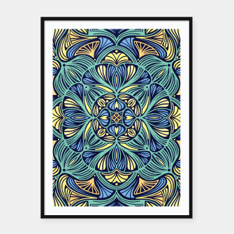 Miniatur Colorful Mandala Pattern 016 Framed poster, Live Heroes