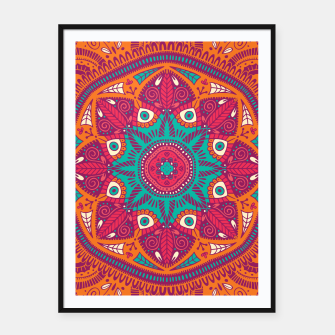 Miniatur Colorful Mandala Pattern 017 Framed poster, Live Heroes