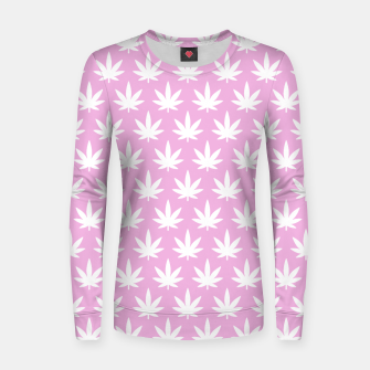 Miniatur Kawaii Cannabis Women sweater, Live Heroes