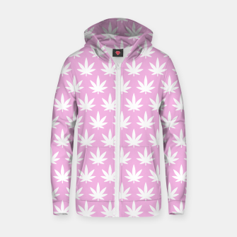 Miniatur Kawaii Cannabis Zip up hoodie, Live Heroes