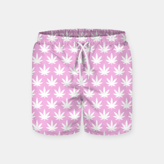 Miniatur Kawaii Cannabis Swim Shorts, Live Heroes