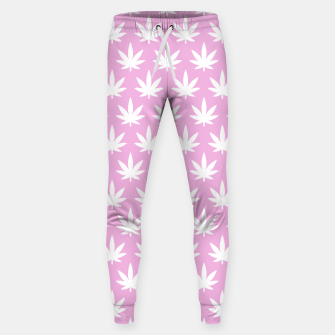 Miniatur Kawaii Cannabis Sweatpants, Live Heroes