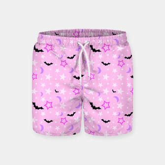 Thumbnail image of Spooky Pastel Goth Swim Shorts, Live Heroes