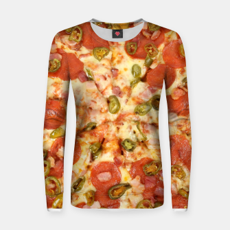 Thumbnail image of Jalapeño and Pepperoni Pizza Women sweater, Live Heroes