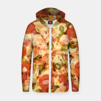 Thumbnail image of Jalapeño and Pepperoni Pizza Zip up hoodie, Live Heroes