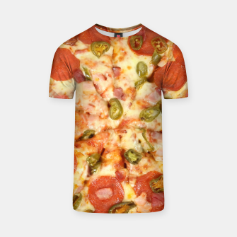 Thumbnail image of Jalapeño and Pepperoni Pizza T-shirt, Live Heroes
