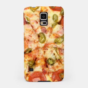 Thumbnail image of Jalapeño and Pepperoni Pizza Samsung Case, Live Heroes