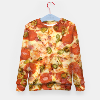 Thumbnail image of Jalapeño and Pepperoni Pizza Kid's sweater, Live Heroes