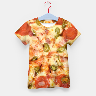 Thumbnail image of Jalapeño and Pepperoni Pizza Kid's t-shirt, Live Heroes