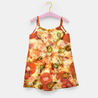 Thumbnail image of Jalapeño and Pepperoni Pizza Girl's dress, Live Heroes