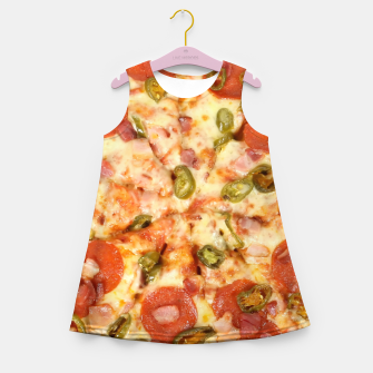 Thumbnail image of Jalapeño and Pepperoni Pizza Girl's summer dress, Live Heroes