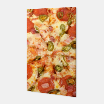 Thumbnail image of Jalapeño and Pepperoni Pizza Canvas, Live Heroes