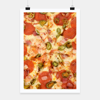 Thumbnail image of Jalapeño and Pepperoni Pizza Poster, Live Heroes
