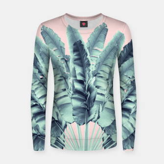 Miniature de image de Blush Traveler Tree Dream #1 #tropical #decor #art  Frauen sweatshirt, Live Heroes